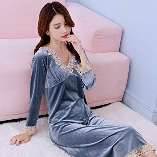 Yuyaxpb Luxe badjas voor dames/kamer/avondjurk, lang, elegant, perfect cadeau, eenvoudige stijl