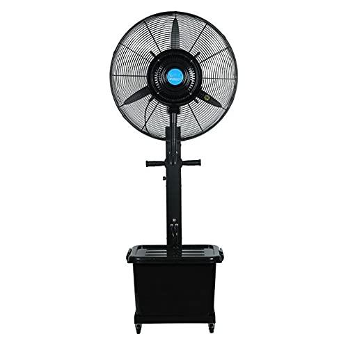 FUFU Climatizadores evaporativos Ventilador de Niebla al Aire Libre, Ventilador de Pedestal de Gran Velocidad del Pedestal 90 ° Oscilación, Agua al Aire Libre y Ventilador de refrigeración Resistente