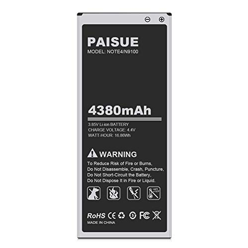 Galaxy Note 4 Battery, 4380mAh [Upgraded] Li-Polymer Replacement...