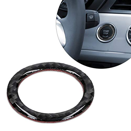 kwmobile Ringrahmen für Start/Stopp-Knopf kompatibel mit BMW 5er Serie E60/E61 - Flexibler und dekorativer Carbon-Ring - Carbon