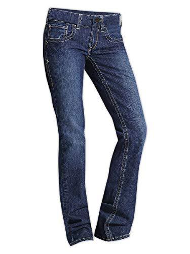 Ariat 10016176-28 Long Flame Resistant NFPA Women's Boot Cut Jeans, Capacity, Volume, Cotton, 28x35, Denim