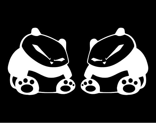 Panda Stickers - Par de adhesivos para ventana de coche, JDM Nismo Illest con espejo, vinilo de carreras de anime japonés, portátil, teléfono, tableta, carreras