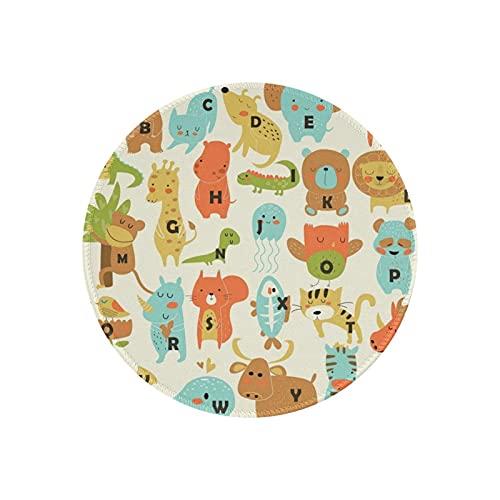 ACADEST マウスパッド かわいい動物 マウスパッド おしゃれ 滑り止め かわいい ミニ マウスパッド 小型 丸型 オフィス/ホーム用 男女兼用