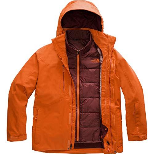 The North Face Men's Clement Triclimate Jacket, Papaya Orange, M