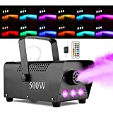 Halloween Fog Machine with Lights - 3 Stage LED Lights with 12 Colors & Strobe Effect for Party Wedding Holiday...