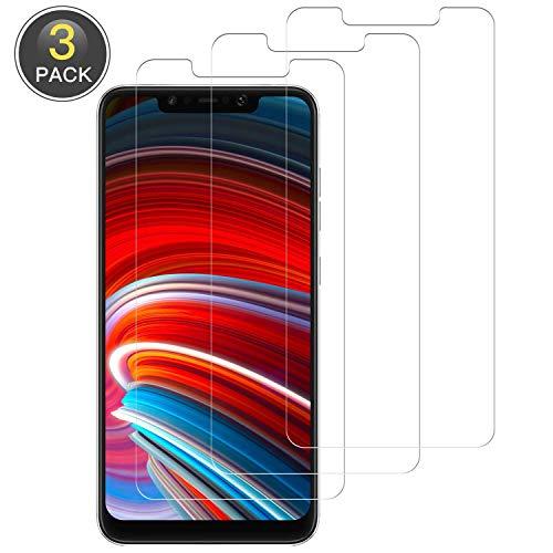 Wiestoung Panzerglas Schutzfolie für Xiaomi PocoPhone F1, [3 Stück] 9H gehärtetes Glas, Anti-Kratzer, Bläschenfrei, Ultra Transparenz Full HD Panzerglasfolie Displayschutzfolie für Xiaomi PocoPhone F1