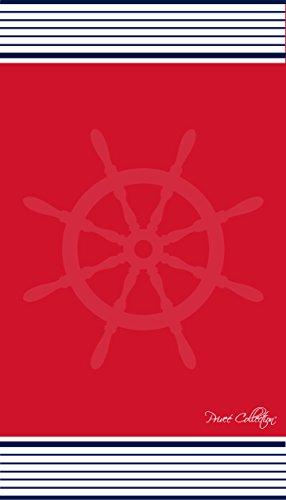 TEXTIL TARRAGO Toalla de playa 90x170 cm 100% algodón egipcio modelo timón rojo
