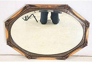 mr-5 1890年代 イギリス製 アンティーク ビクトリアン カットガラス 壁掛け鏡 ウォールミラー