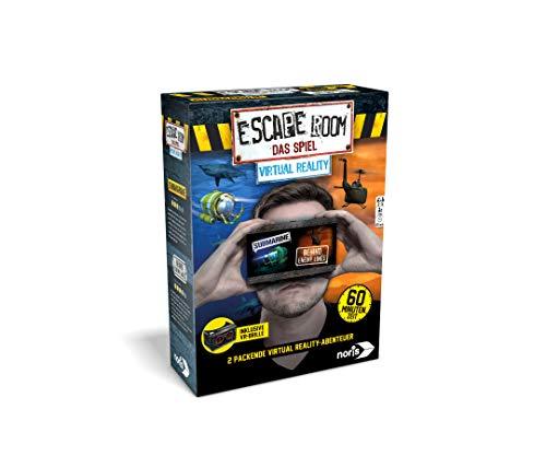 Noris 606101666- Escape Room Erweiterung Virtual Reality – Familien und Gesellschaftsspiel für Erwachsene - inklusive VR-Brille - eigenständig spielbar - ab 14 Jahren