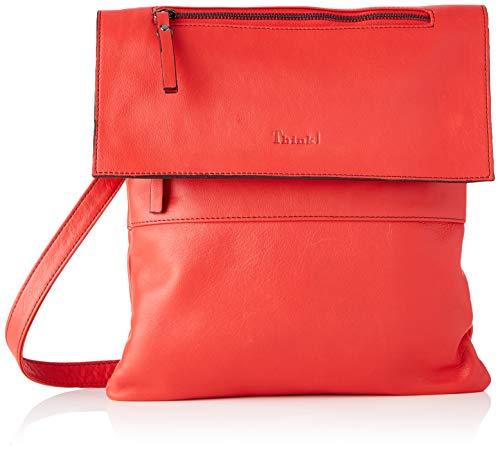 Think! Women's Ledertasche_3-000125 Satchel Bag, 5010 Cherry, Normal
