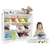 UNiPLAY 子供用おもちゃ収納オーガナイザ (白い)