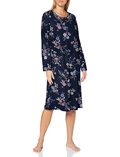 CALIDA Damen Cosy Cotton Nights Nachthemd, Dark Blue Print, S
