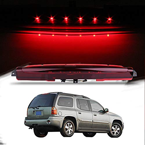 Compatible High Mount Stop Lights Full Rear LED 3RD Third Brake Tail Light Replacement for 04-07 for Buick Rainier 02-09 for Chevrolet Trailblazer,for GMC Envoy Excludes XUV 03-08 for Isuzu
