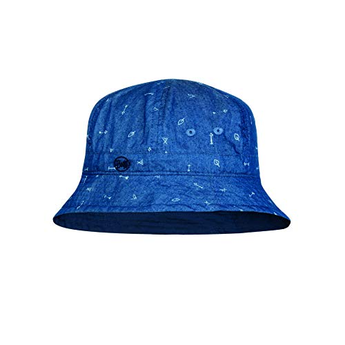 Buff Kinder Bucket Hat, Arrows Denim, One Size