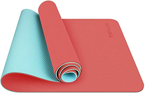 Toplus Yoga Mat Non Slip, Eco Friendly Fitness Exercise Mat with Carrying Strap,Pro Yoga Mats for Women,Workout Mats for Home, Pilates and Floor Exercises