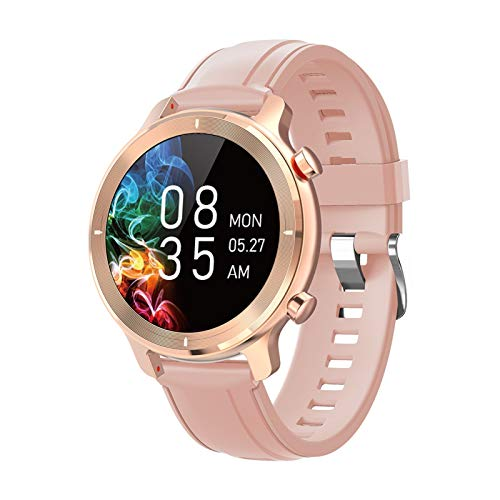 FFF8 Smart Watch SmartWatch Women Sport Watch Smart Watch Woman'S Natwer Smart Watch para Mujeres Hombres Reloj (Color : Gold)