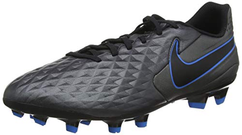 Nike Legend 8 Academy FG/MG, Football Shoe Uomo, Black/Black-Blue Hero, 43 EU