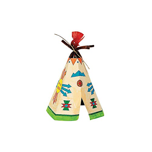 Color Your Own Tee Pee Decoration Craft Kit - Crafts for Kids and Fun Home Activities