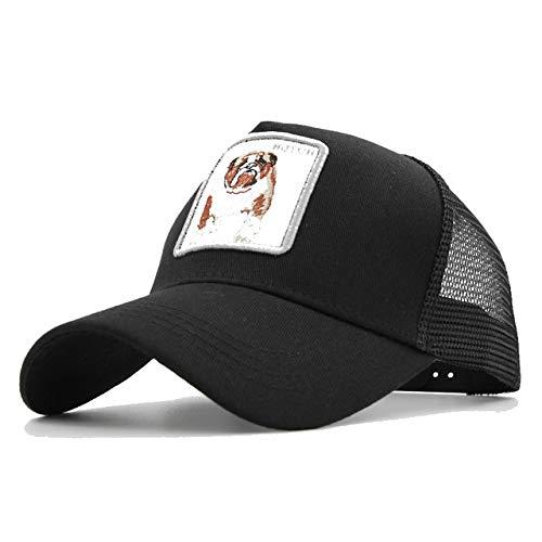 Gorras de bisbol deModaHombres Mujeres Snapback Hip Hop Sombrero Verano Sombrero de Malla Streetwear Gorra-a4
