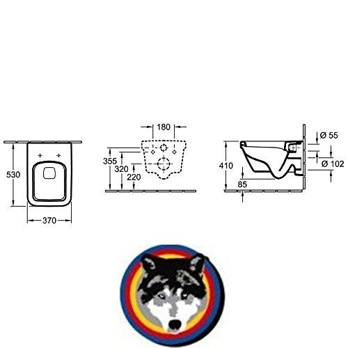 Villeroy & Boch Wand-WC Combi-Pack Architectura PLUS , DirectFlush, Spülrandlos C-plus - 5
