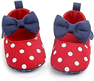 Baby Products Princess Dot Baby Girls Toddler Crib First Walkers Anti-Slip Shoe, Size:11cm(Red) Baby Products (Color : Red)