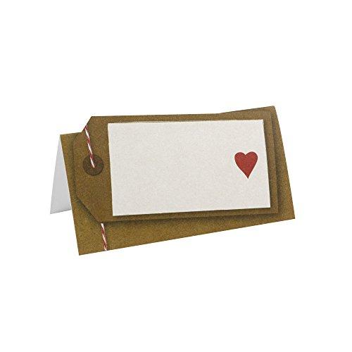 Neviti Just My Type Cartes de Placement, Papier, Marron, 9.5 x 5 x 0.2 cm