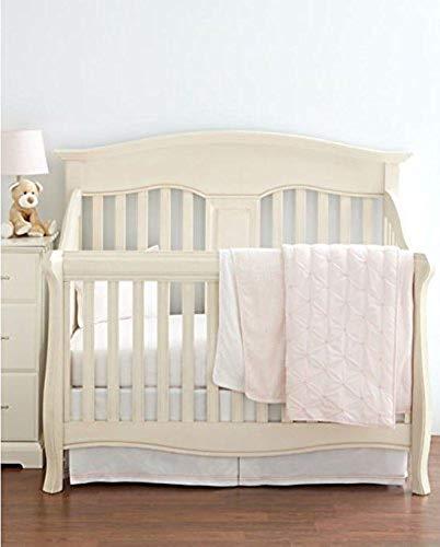 Hudson Park Collection Percale Baby Crib Skirt - Petal