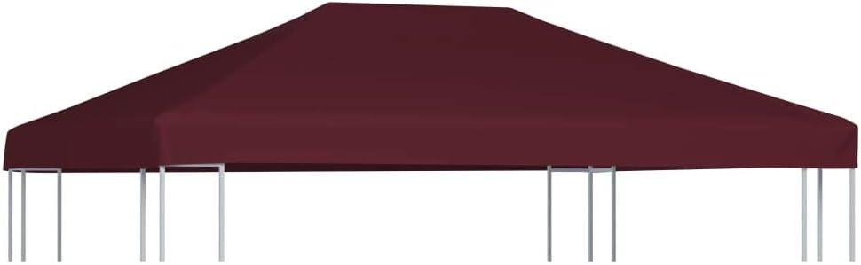 Benkeg Toldo De Cenador 3 x 4 m Terracota 310 G/M² Impermeable, Toldo De Repuesto Techo del Cenador, Toldo De Jardín Toldo De Exterior