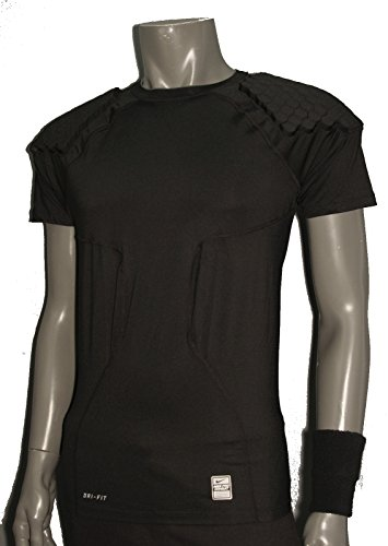 Nike Pro Combat Hyperstrong Padded Compression Football Shirt Black Mens XL