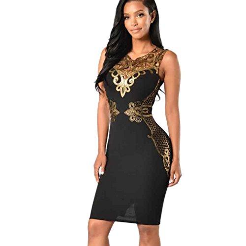 corto Zeagoo abito estivo elegante da donna in chiffon linea A abito da cocktail con pizzo