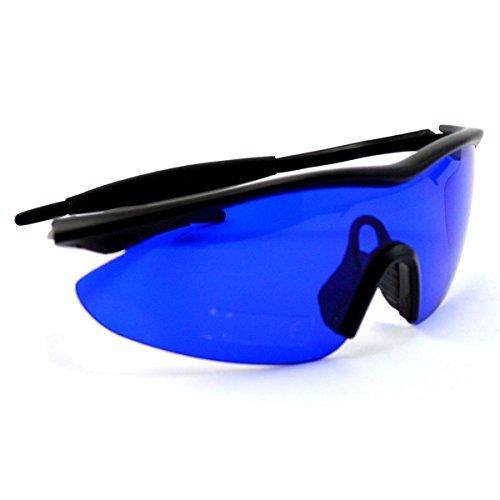 IDS Home Posma SGG-010 Golf Ball Finder Locating Glasses Hunter Retriever Glasses Sports Sunglasses Special Tinted Lens w/Case