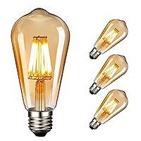 ♚ NUODIFAN Vintage Edison LED Glühbirne Serie - Die Leuchtmitteln besitzen die Energieeffizienzklasse A+, Äquivalent zu Glühbirnen 60-80 W, haben bis zu 90% Energieeinsparung im vergleich zu herkömmlichen Leuchtmitteln. ♚ Das licht ist ideal, um eine...