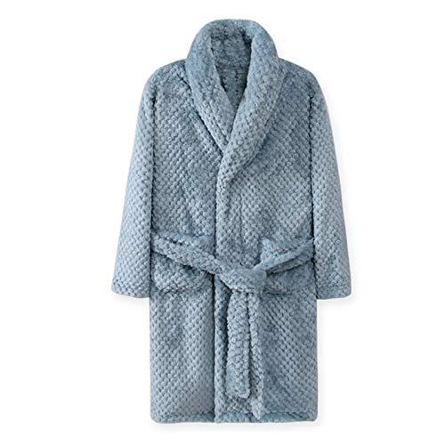 Automne Hiver Enfants Vêtements De Nuit Robe Flanelle Peignoir Chaud pour Filles 4-18 Ans Adolescents Enfants Pyjamas pour Garçons 6T Bleu Livraison Gratuite