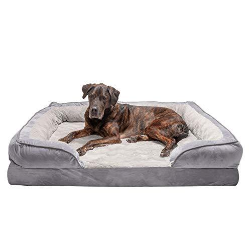 Furhaven Pet Dog Bed - Orthopedic Plush Velvet Now $75.99 (Was $147.99)