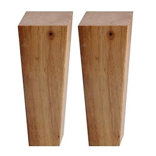 SHOP YJX 4 patas trapezoidales de madera maciza de 15 cm de altura, ángulo recto, para sofá, banco, armario, armario, sofá, sofá, sofá, sofá, sofá, sillón, (color: juegos B).