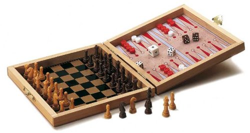 Didatto Chess, Checker And Backgammon Board Magnetic Travel