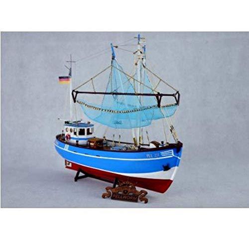 DressU Longevidad Decoraciones Chem Velero Modelo Modelo Escala 1/48 del Barco de Pesca El Kit Modelo clásico del Norte de Europa Barco de Vela del Barco rastreador Modelo de Madera Durabilidad