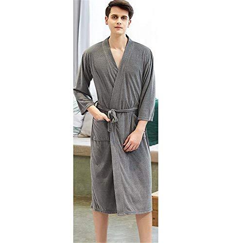 ZSDGY Túnica Delgada/Pareja Salón de Belleza Albornoz de Mujeres/Pijamas de Hombres/Ampliado para Aumentar la Bata de baño H-M