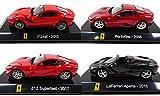 OPO 10 - Lote de 4 Coches Supercars: Compatible con Ferrari Portofino + 812 + Aperta + F12 / Ixo 1/43 (SC1 + SC6 + SC8 + SC20)