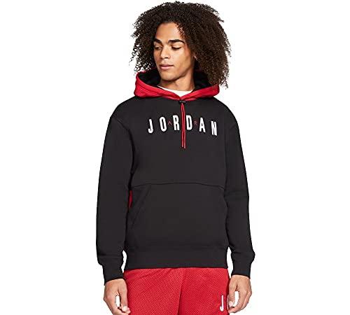 Jordan felpa da uomo con cappuccio rosso nera da uomo - s