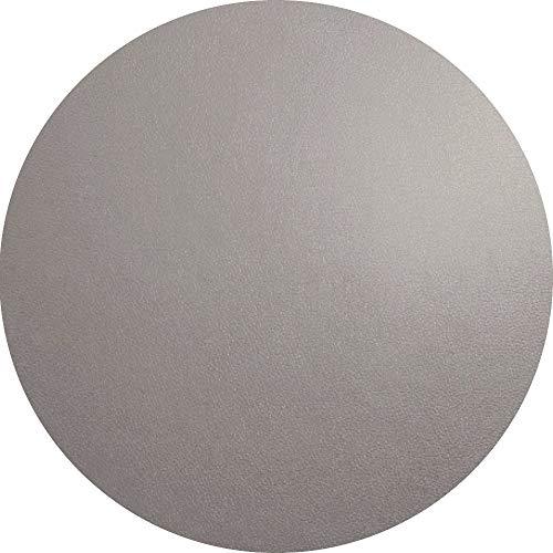 ASA Tischset Rund - Cement/Grau - Leder Ø 38 cm