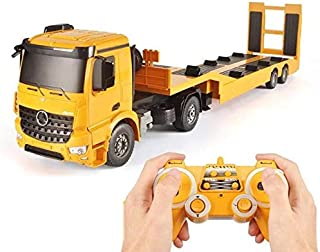 PCARM Sound And Light Remote Control Tractor Flatbed Truck RC Tow Truck Tractor Trailer Detachable Flatbed Semi Trailer Ch...
