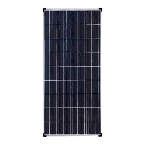 enjoy solar® Poly 160W 12V panel solar policristalino célula solar ideal para casas móviles, cobertizos de jardín, barcos