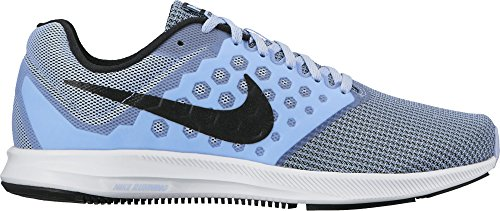 Nike Wmns Downshifter 7, Zapatillas de Running Mujer, Azul (Aluminum/black-white), 40 EU