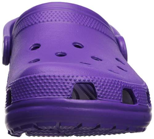 Crocs Classic Clog|Comfortable Slip On Casual Water Shoe, neon purple, 6 M US Men/8 M US Women