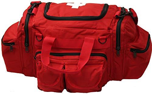 Army Universe Red EMT EMS White Cross Starter Beginners Trauma Field Medics Carry Shoulder Bag + Pin