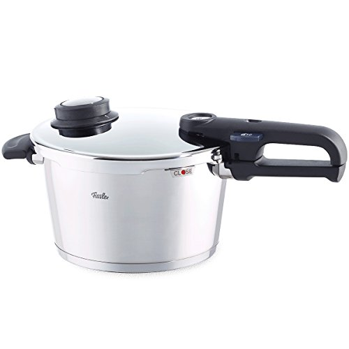 Fissler Pressure Cooker Suitable for All Hob Types Including Induction, Steam Cooker Function, Secure-locking, Diameter: 22 cm, Capacity: 6 Litres, Vitavit Premium