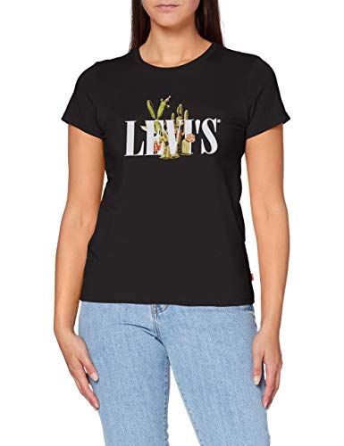 Levi's Damen The Perfect Tee T-Shirt, Serif Mit Kaktus-Kaviar, L