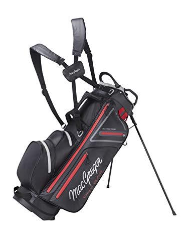 MACGREGOR MACBAG130 Golf Club Stand Bag, Unisex-Adult, Black/Red, One Size