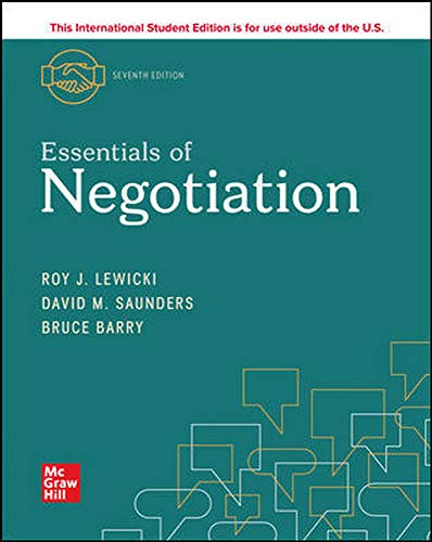 ISE Essentials of Negotiation (ISE HED IRWIN MANAGEMENT)